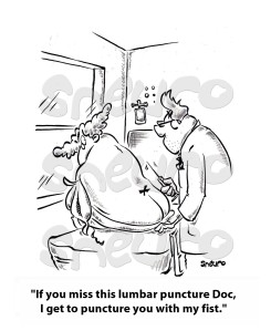 Lumbar punctures our necessary but often painful.