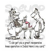 I can get you an inexpensive knee operation in India!