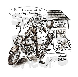 Don't mess with Granny, Sonny!