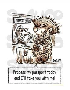 Vacationer needs last minute passeport renewal.