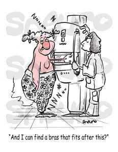 Pearl getting her mammogram