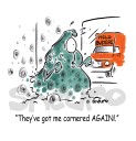 Mold Removal Service Cartoon